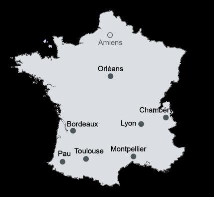Carte des geiq site Pau